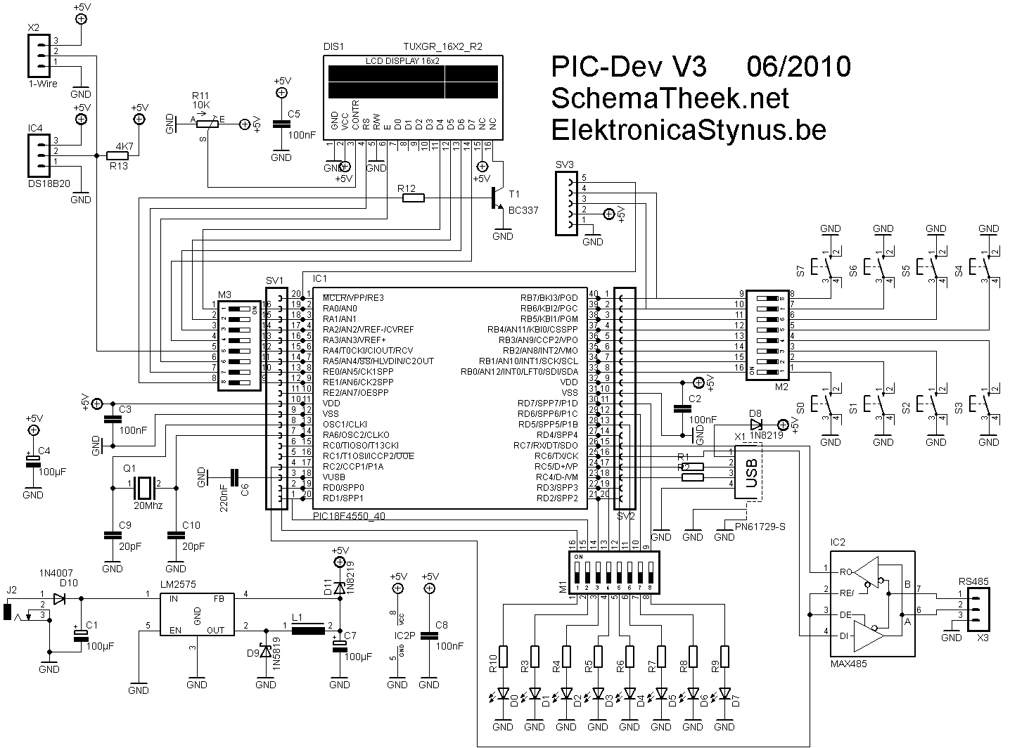 pic18f4550 development board  u2013 elektronicastynus