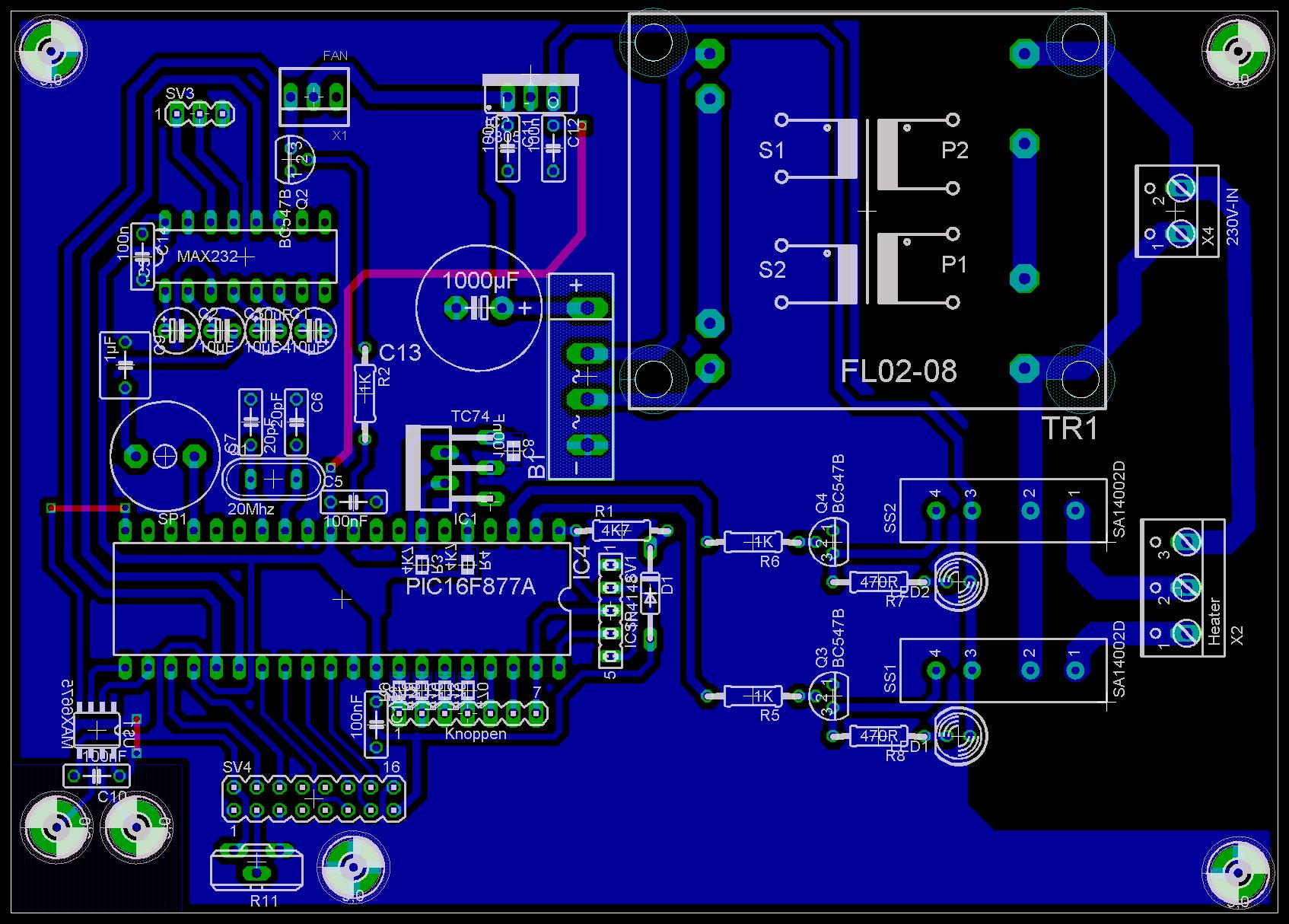 reflow ven pcb layout