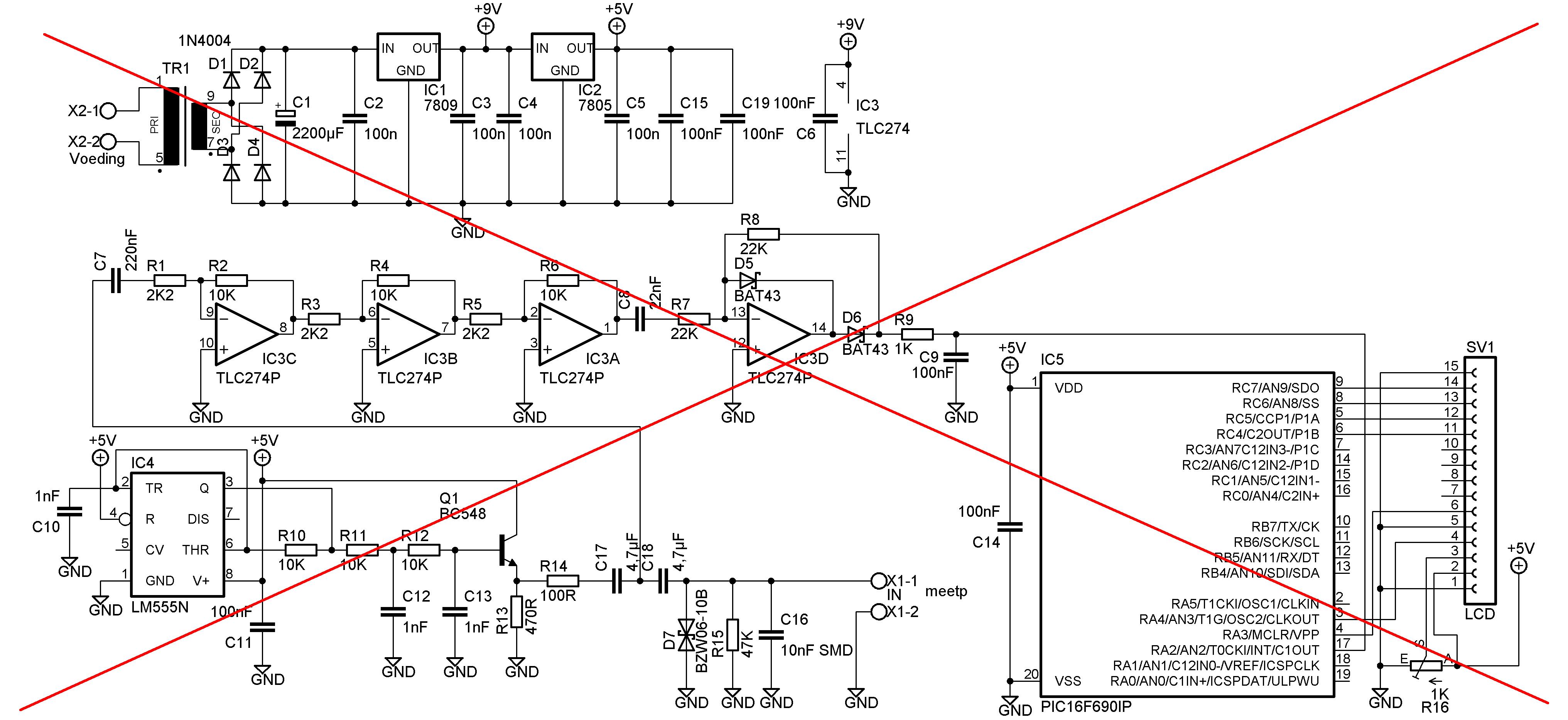 Esr Meter Elektronicastynus Capacitor Tester Circuit Diagram Electronic Circuits My
