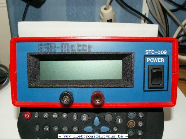 Frontplaat ESR-Meter