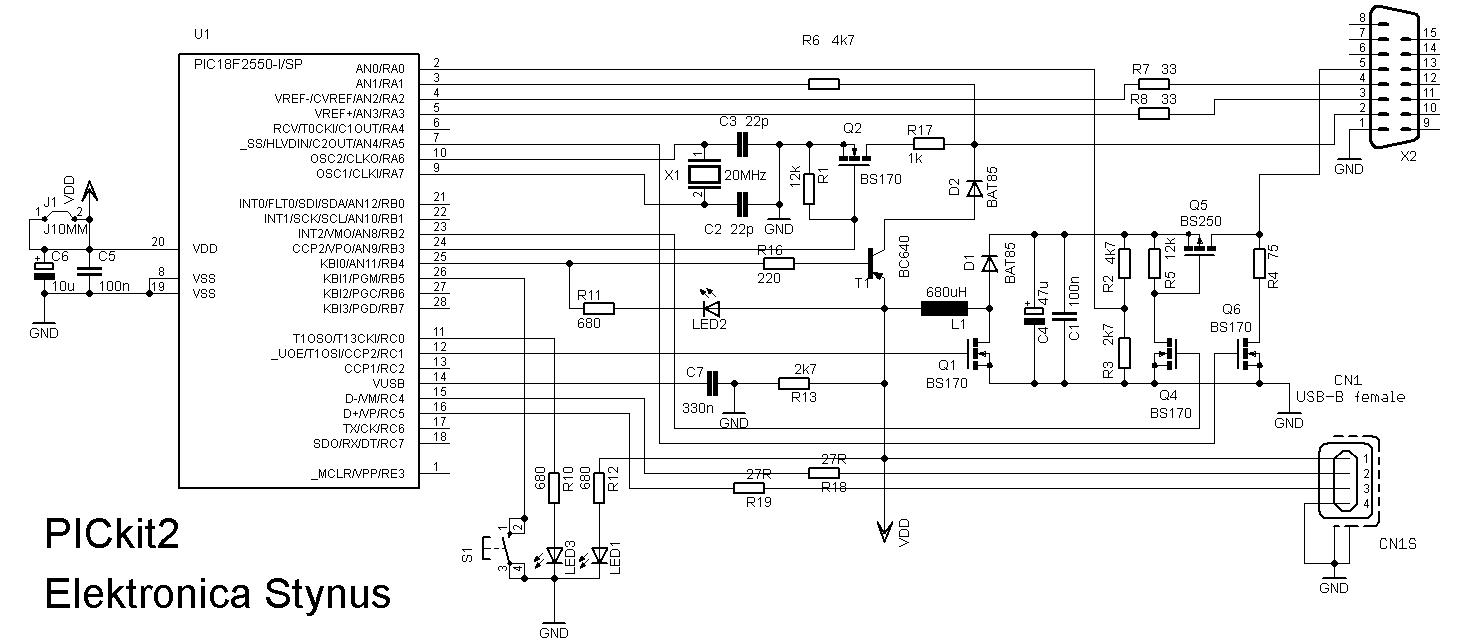 PICkit2 schema