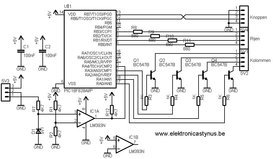 Schema binaire BCD klok