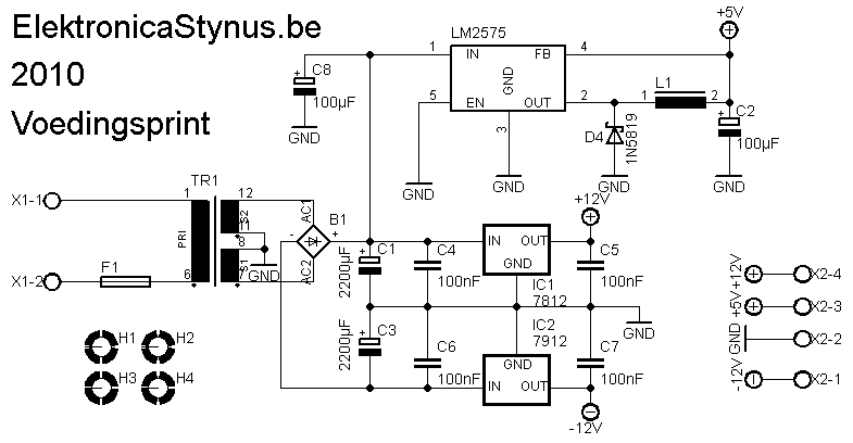 Scheidingstransformator V2 Schema