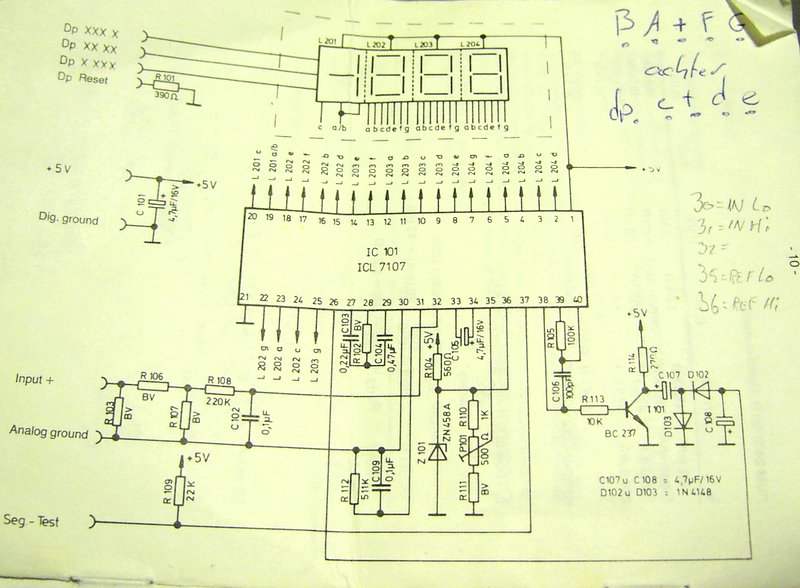 Voltmeter schema